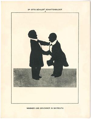 Silhouettenbild: Anton Bruckner und Richard Wagner