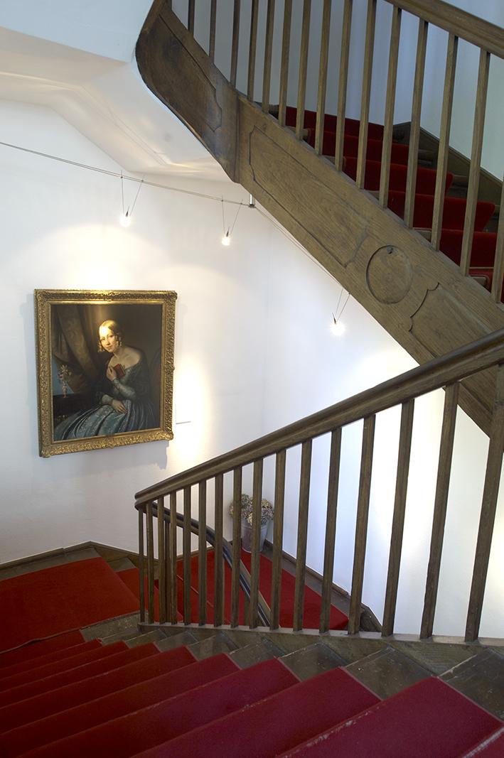 Das Treppenhaus der Villa in Tribschen