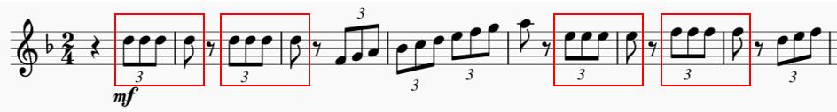 3. Satz, Oboenstimme