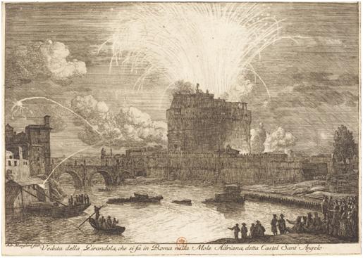 Manglard, Feuerwerk über der Engelsburg