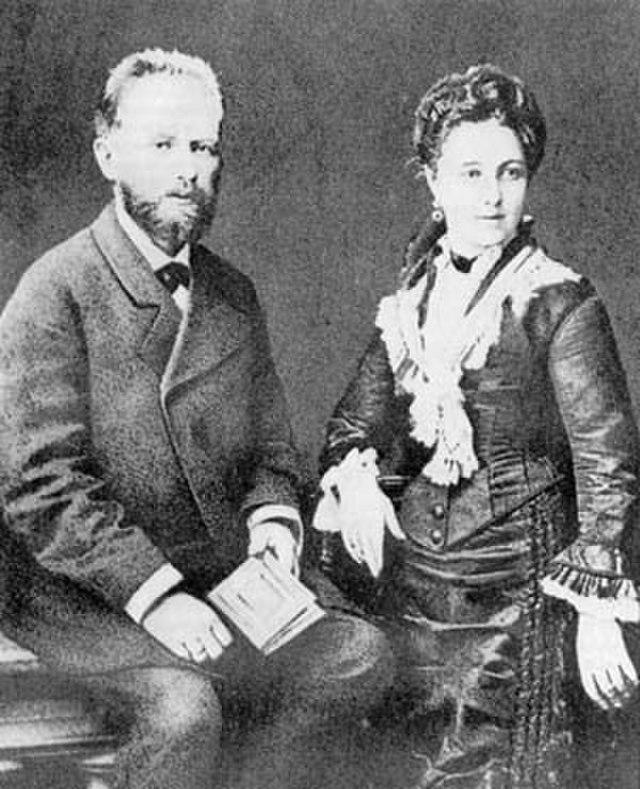 Tschaikowsky und Miljukova
